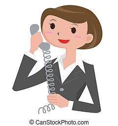 Eine Frau, die anruft