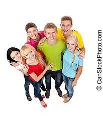 Eine Gruppe junger Menschen