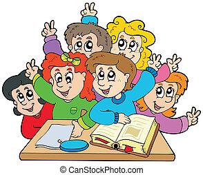 Eine Gruppe Schulkinder