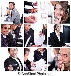 Eine Gruppe von Geschäftsmännern und Frauen