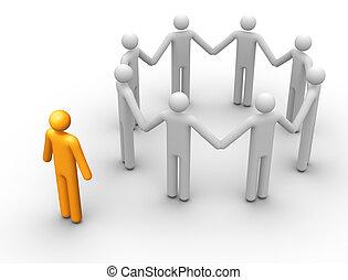 Eine Gruppe von Menschen