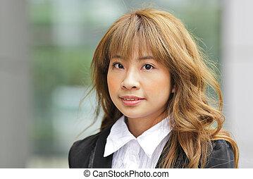 Eine junge Asiatin