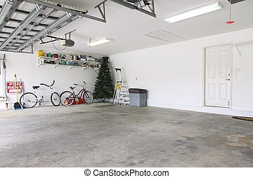 Eine leere Garage