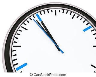 Eine Minute für zwölf Uhr