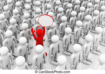 Eine Person hat die richtige Antwort und wird als die beste in der Gruppe ausgewählt.