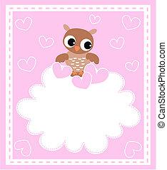 Eine süße kleine Babyeule
