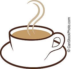Eine Tasse Kaffeevektor