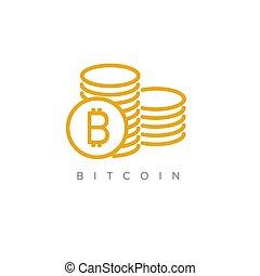 einfache , begriff, bitcoin, abbildung
