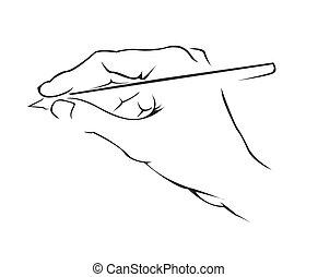 einfache , symbol, hand schreiben