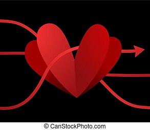 Eingebildetes Herzdesign.