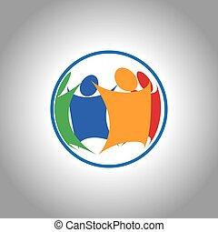 Einheitliche Gruppe von Menschen zusammen.