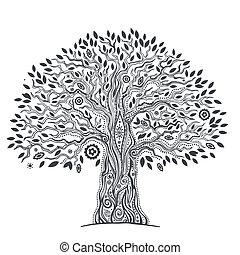 Einzigartiger ethnischer Baum des Lebens.