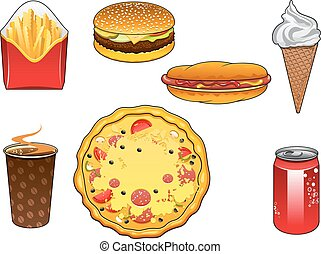 eis, lebensmittel, schnell, knabberzeug, buechse, soda, creme