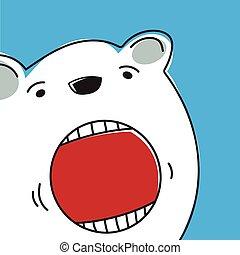 Eisbär.