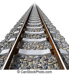 Eisenbahnlinien für Betonschläfer.