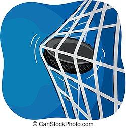 Eishockey-Ziel Illustration.