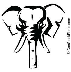 Elefantvektor Illustration