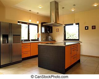 Elegant bequeme Küche