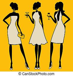 Elegante Partyfrauen