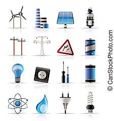 Elektrizität, Energie und Energie-Ikonen