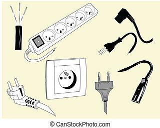 Elektrokabel und Stecker