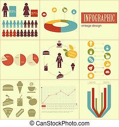 Elemente der Infographics für Präsentationen