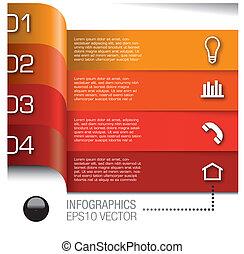 elemente, satz, vektor, infographics