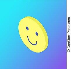 Emoji Gesichtsausdruck Icon lächelnden Gesichtsvektor