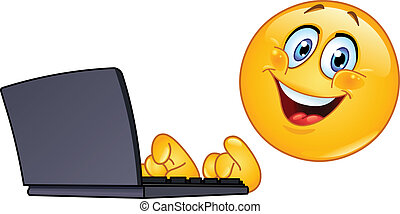 Emoticon mit Computer