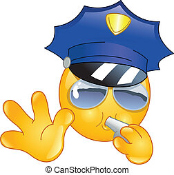 emoticon, polizist