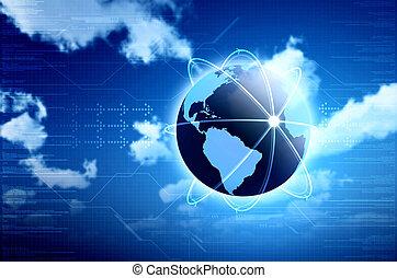 Empfängnisverständnis für Informationstechnologie, Cloud Computing oder Internet. Toll für Hintergrund und Bild in Ihrem Design