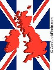 England mit Gewerkschafts-Jack.