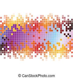 Entfernen Sie digitalen Hintergrund mit farbenfrohen Pixel