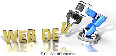 entwicklung, web, technologie, robotic
