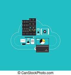 entwicklung, wolke, hosting, geschaeftswelt, rechnen