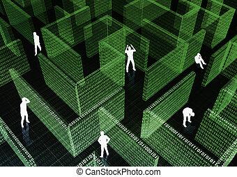 Er steckte im IT-Labyrinth fest