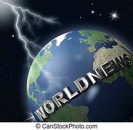 erdball, world-news, beleuchtung