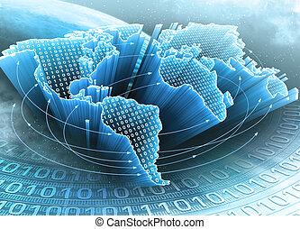 Erde der Informationen