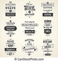 Erfolg zitiert typografische Poster.
