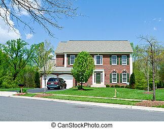 Erste Ziegelsteineinzelfamilienhaus, Vorort MD