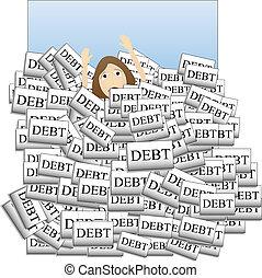 Ertrinken in Schulden
