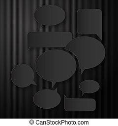 etikett, minimal, notieren, leer, 3d, vektor, schwarz, grafik, darstellung, nachricht, abbildung