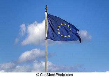 Europäische Gewerkschaftsflagge.