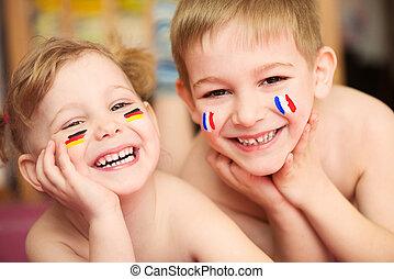 europäische Kinder.