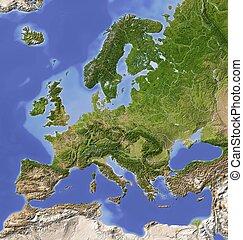 Europa, abgeschirmte Landkarte