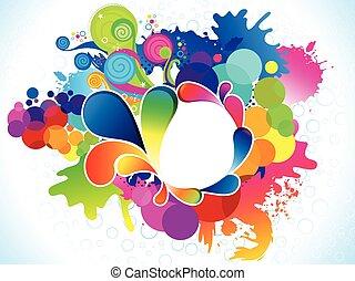 explodieren, abstrakt, künstlerisch, bunte