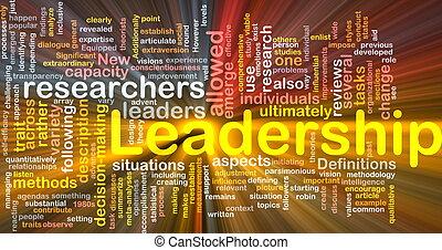 Führung ist Knochenhintergrundkonzept leuchtend