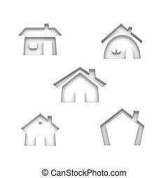 Fünf Haus-Ikonen