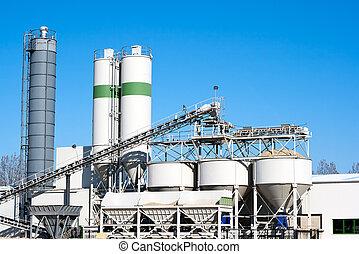fabrik, zement