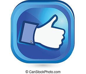 Facebook wie es Daumen hoch